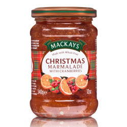 Marmelade de Noël Orange et Cranberries Mackays 340g