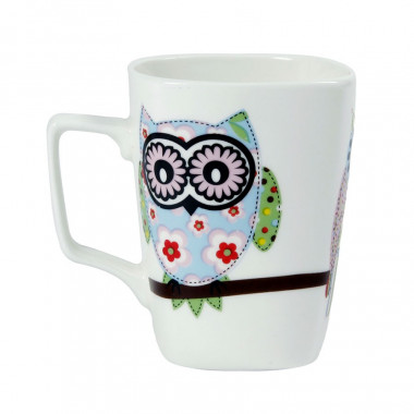 Mugs Porcelaine hiboux 305ml