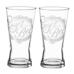 Set 2 verres à biere craft 56cl
