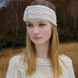 Bandeau Aran Naturel Inis Crafts