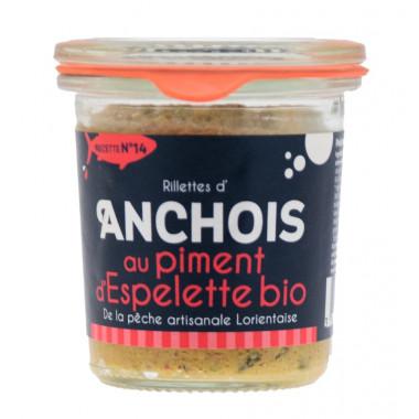 Rillettes anchois au piment d'espelette bio 105g