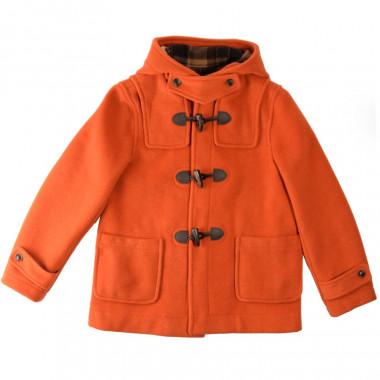 Duffle-Coat Court Erica Orange Brûlé