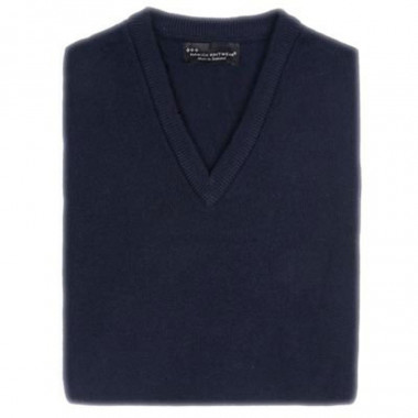 Pull Lambswool Marine Hawick Knitwear