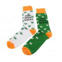 Chaussettes Shamrock vert et orange