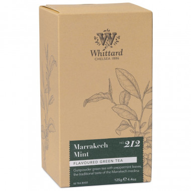Whittard Thé Mint Marrakech 50 Sachets 125g