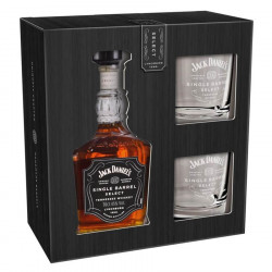 Coffret Jack Daniels Single Barrel 70cl 45° + 2 verres