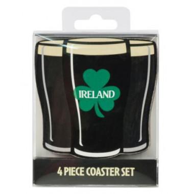 Set de 4 coasters Irish Stout