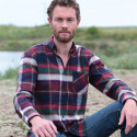 Chemise Flanelle Marine, Vert & Bordeaux Out of Ireland