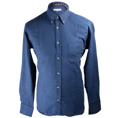 Chemise Flanelle Bleue Out of Ireland