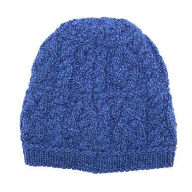 Bonnet Aran Bleu Inis Crafts