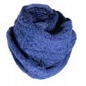 Snood Aran Mérinos Bleu Inis Crafts