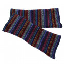 Mitaines Lambswool Rayées Bleues The Scarf Company