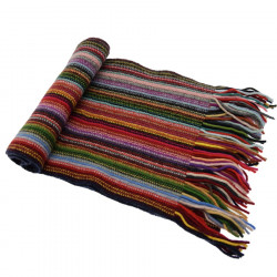 Echarpe Lambswool Rayée Multicolore The Scarf Company