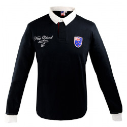 Polo Talo New Zealand Noir Nations of Rugby