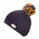 Kusan Dark Blue Hat with Multicoloured Pompom