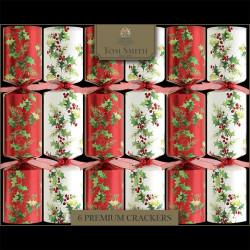 Tom Smith Traditional Foliage Premium Christmas Crackers x6