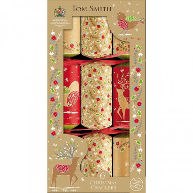 Christmas Crackers Kraft x6 Tom Smith