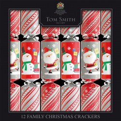Tom Smith Fun and festive, these 12 Christmas Crackers for children will delight young and old.Party Crackers Family Kids x12