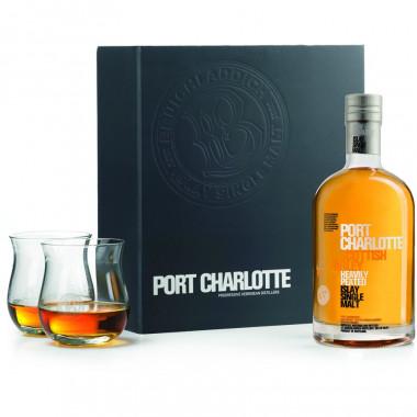 Port Charlotte Scottish Barley Box 70cl 50° + 2 glasses