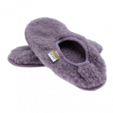 Chaussons Ballerines Laine Lilas Alwero
