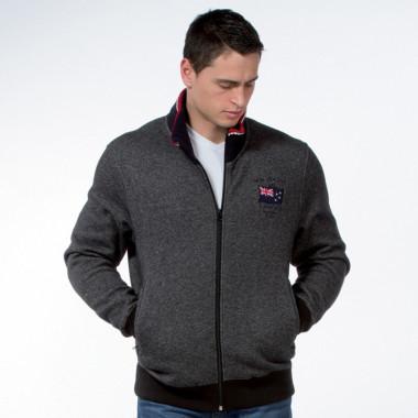 Ruckfield Heather Grey Zipped Sweater