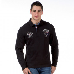 Ruckfield Black Long sleeves North Island Polo