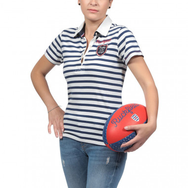 Ruckfield Striped Navy Polo Shirt