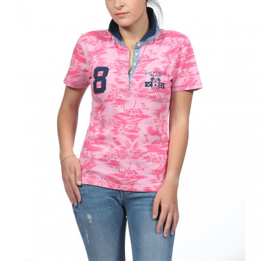 Ruckfield Pink Palm Trees Polo Shirt