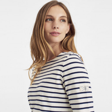 Tom Joule Navy & Cream Jersey Top