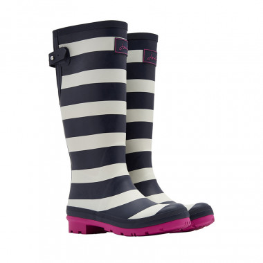 Tom Joule Ecru and Navy Blue High Boots