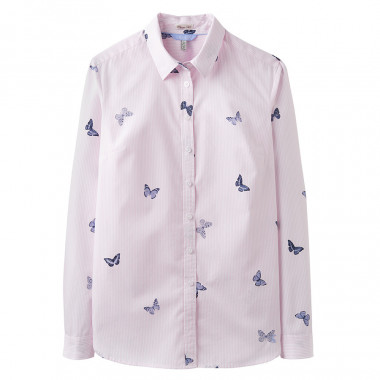 Tom Joule Pink Butterfly Striped Blouse