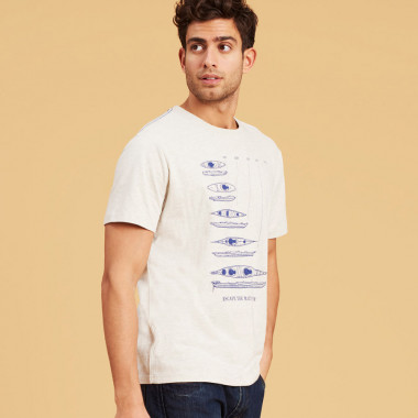 T-shirt Kayak Crème Tom Joule