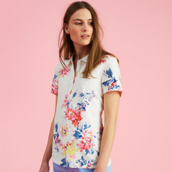 Cream Polo Shirt Flower Print Tom Joule