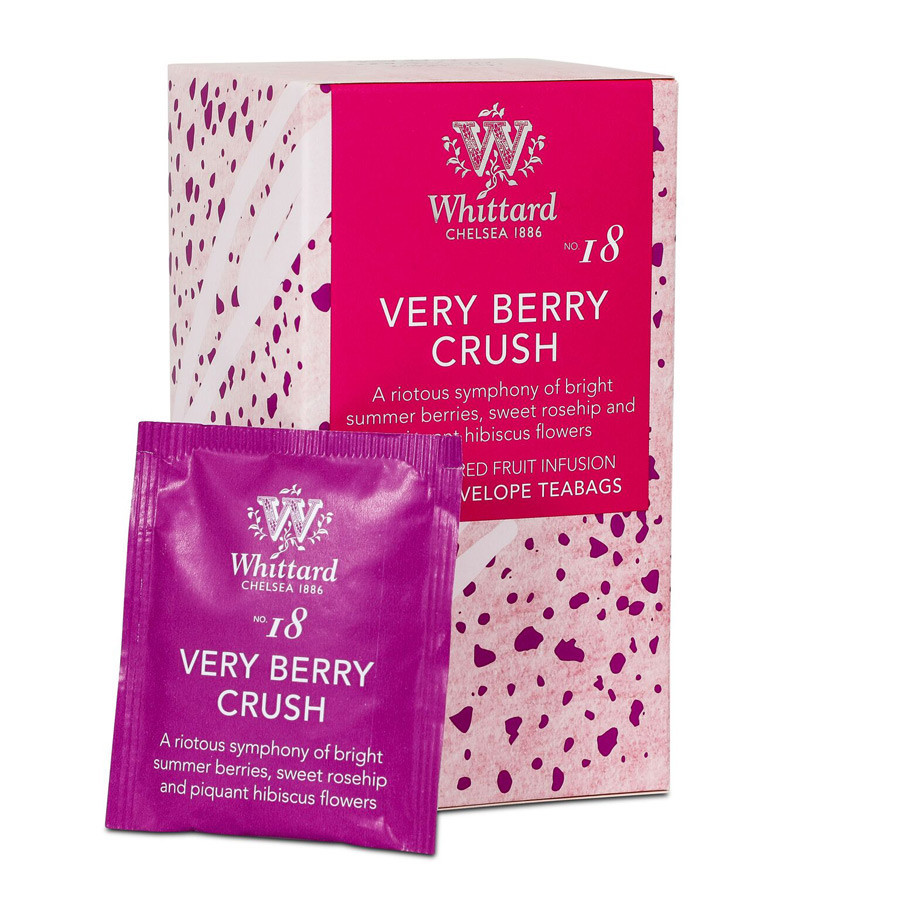 Whittard Very Berry Crush Fruit Infusion 20 Tea Bags 40g