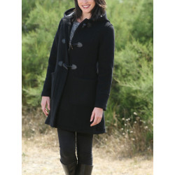London Tradition Fiona Black Zipped Duffle-Coat