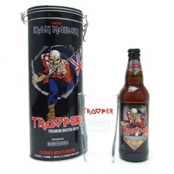 Box Iron Maiden Trooper Beer 50cl 4.7 ° + Glass