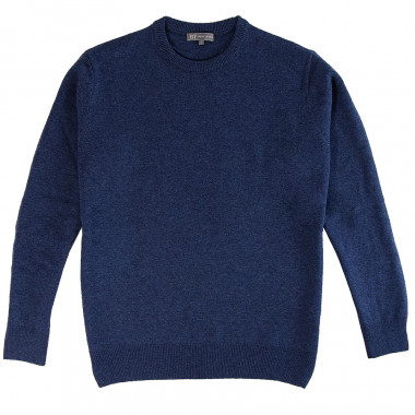 Pull homme col rond bleu best yarn