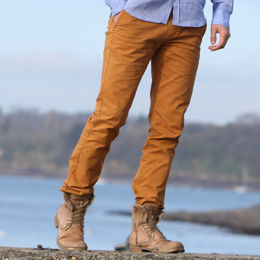 Pantalon homme chino moutarde tom joules