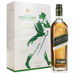 Green label 15 ans Box + 2 Glasses 70cl 43°