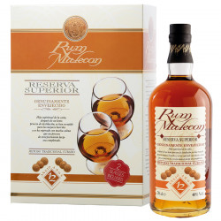 Malecon Rum 12 Years Old Gift Box + 2 Glasses 70cl 40°