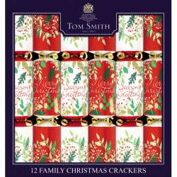 Party Crackers Traditional Family Tom Smith x 12