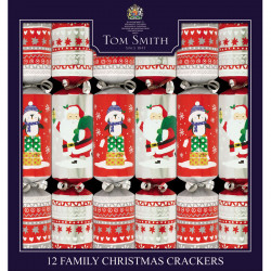 Tom Smith Party Crackers Family Kids x 12
