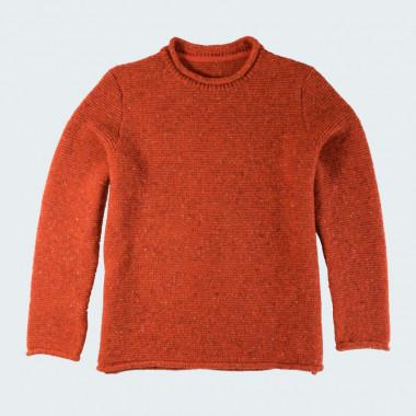 Pull Droit Finitions Roulottées Orange Best Yarn