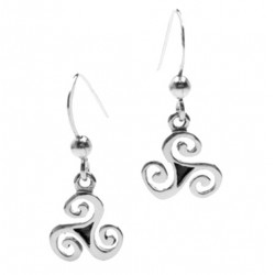 Silver Triskell Earrings