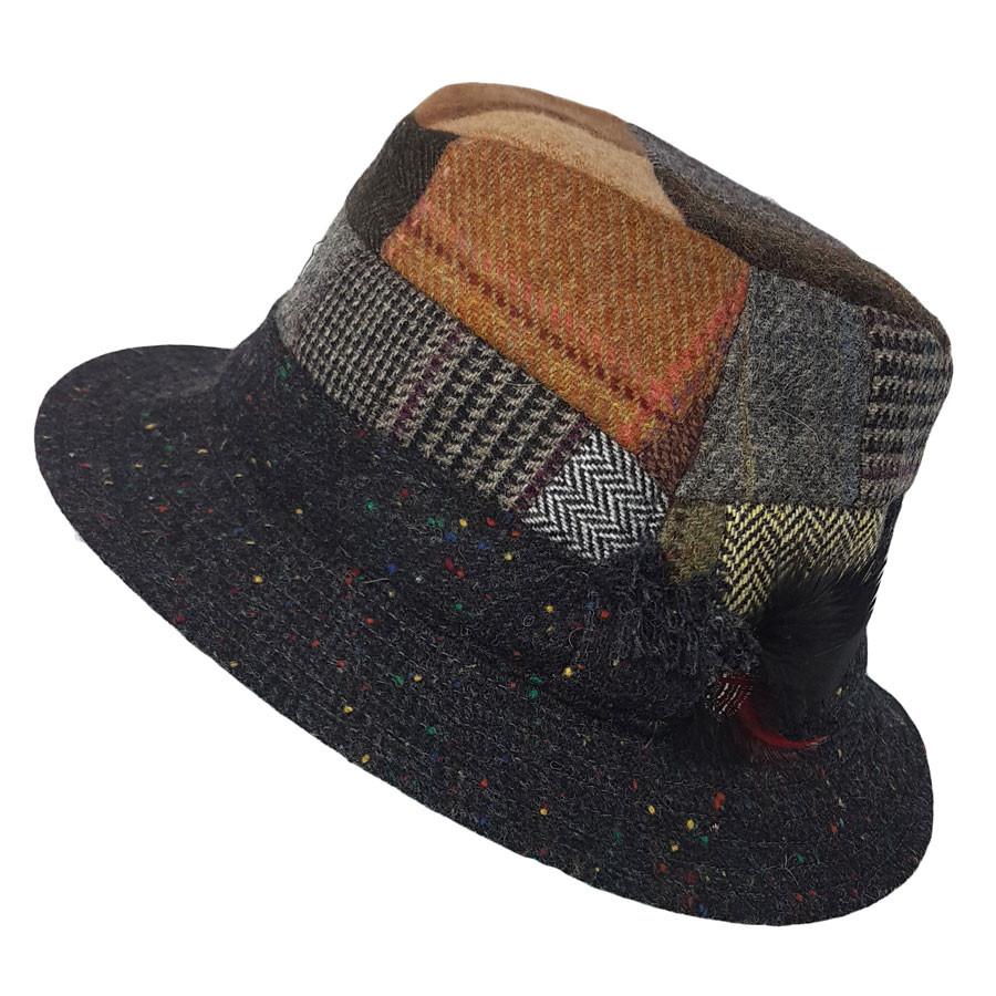 80a0fe349b3 Hanna Hats Dark Patchwork Hat