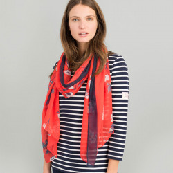 Etole femme wensley rouge fleurs blanches tom joules