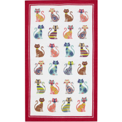 Groovy Cats Tea Towel 48 x 74 cm