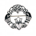 Tin Claddagh Brooch