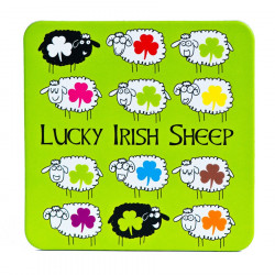 Lucky Irish Sheep Coaster