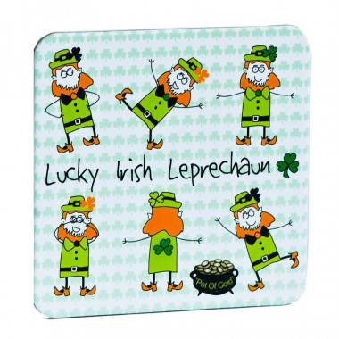 Coaster Lucky Irish Leprechaun